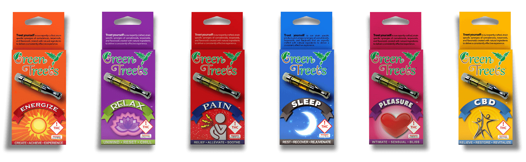 Green Treets cannabis concentrate cartridges